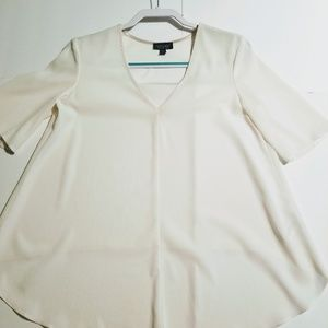 Topshop sz 6 Sheer high low blouse